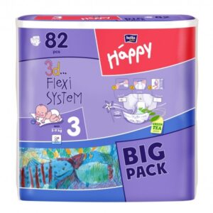 Scutece Happy Big Pack Midi 78 buc