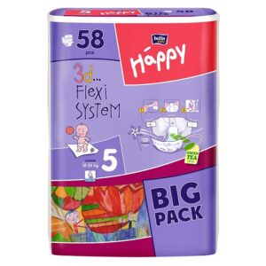 Scutece Happy Big Pack Junior 58 buc