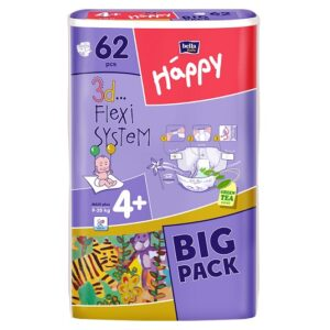 Scutece Happy Big Pack Maxi Plus 62 buc