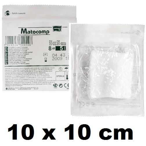 Comprese sterile din tifon 10x10 cm blister 3 buc